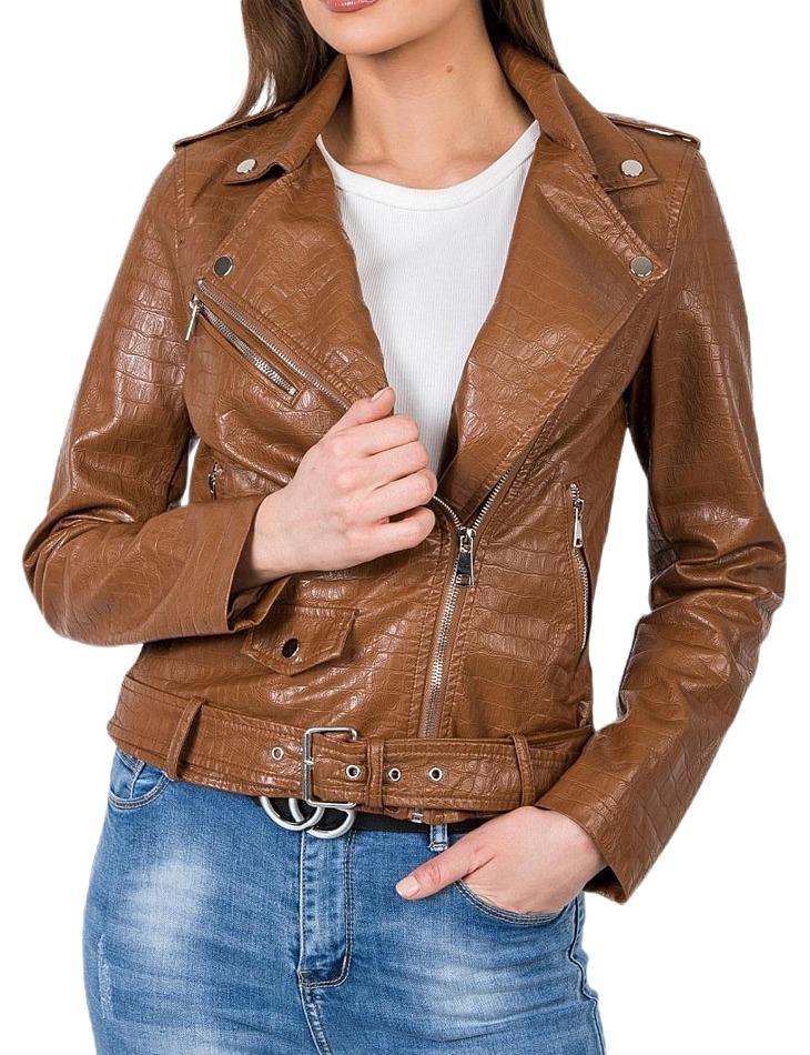 Dámska jarná hnedá bunda vel. XL