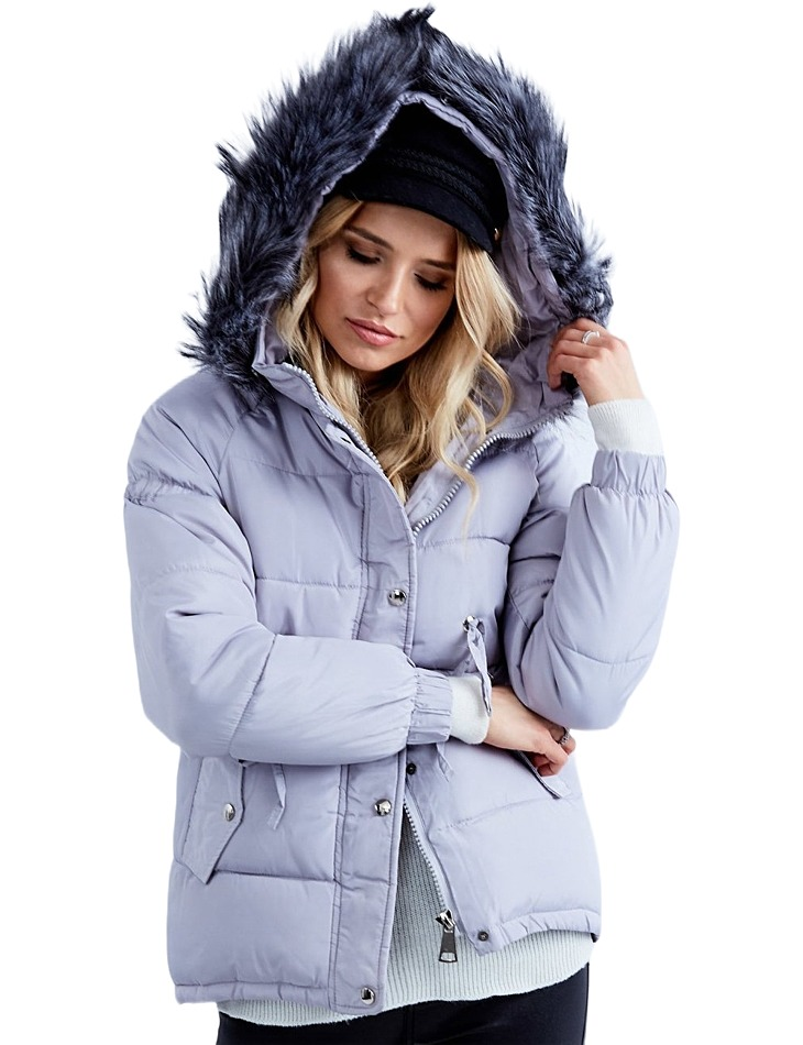 Dámska šedá zimná bunda vel. 2XL