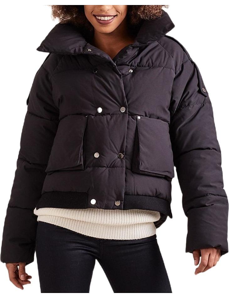 Dámska zimná čierna bunda vel. XL