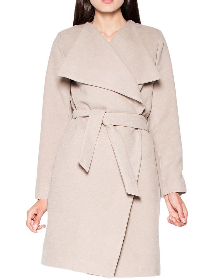 Jesenné flaušový dlhý kabátik vel. M