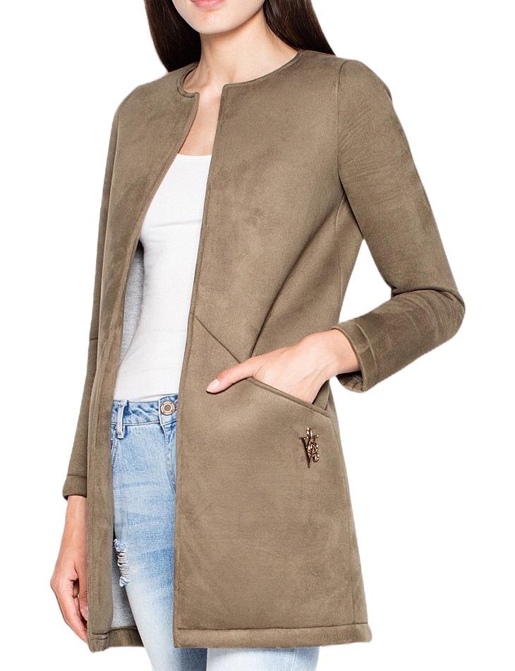 Jesenné kabátik bez zapínania vt040 olive green vel. M