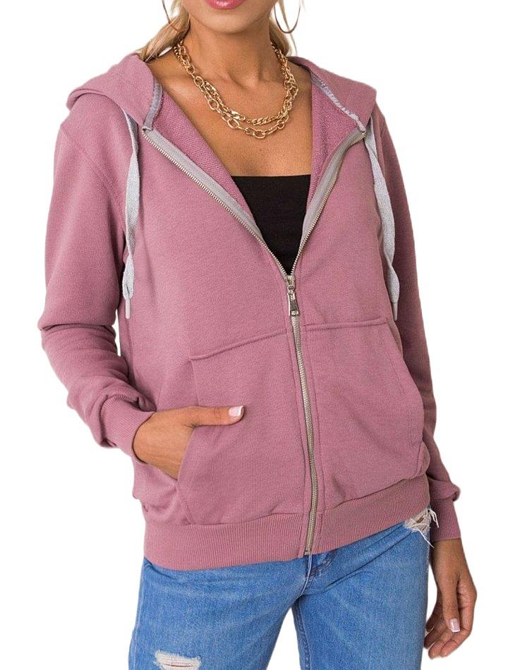 Ružová dámska mikina na zips vel. S