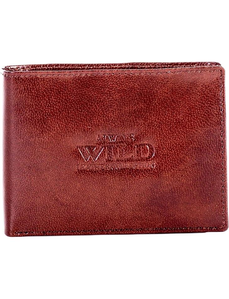 Hnedá pánska peňaženka vel. ONE SIZE