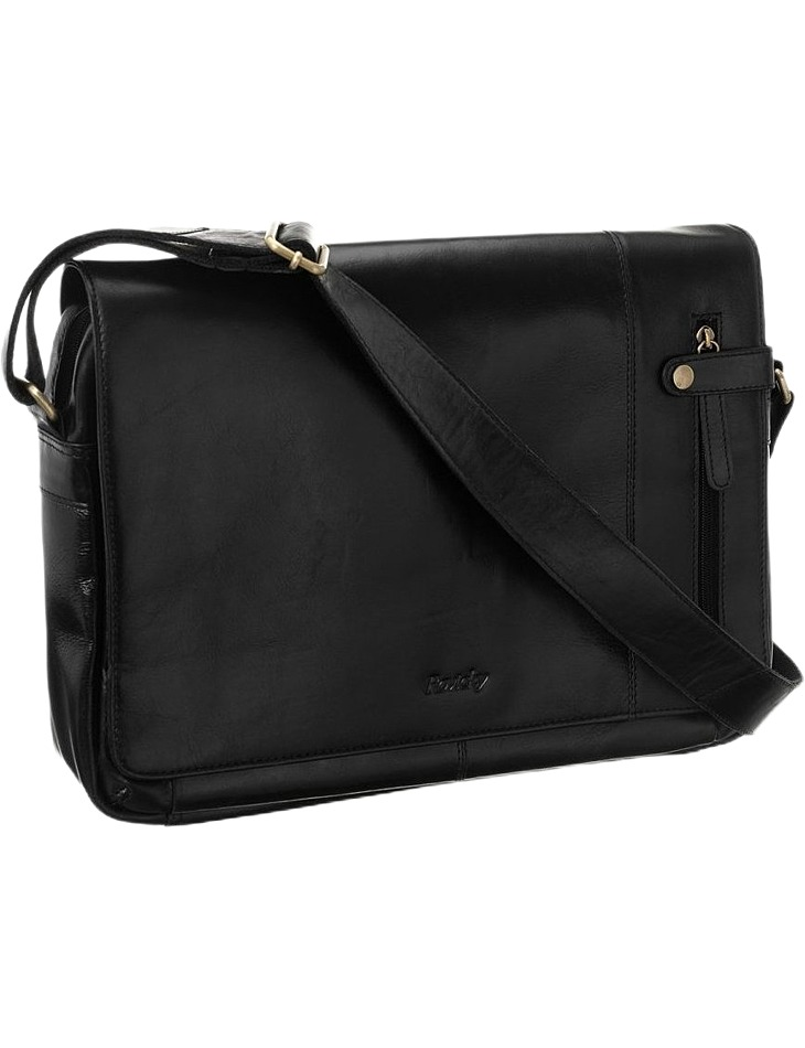 čierna pánska kožená taška na notebook vel. ONE SIZE