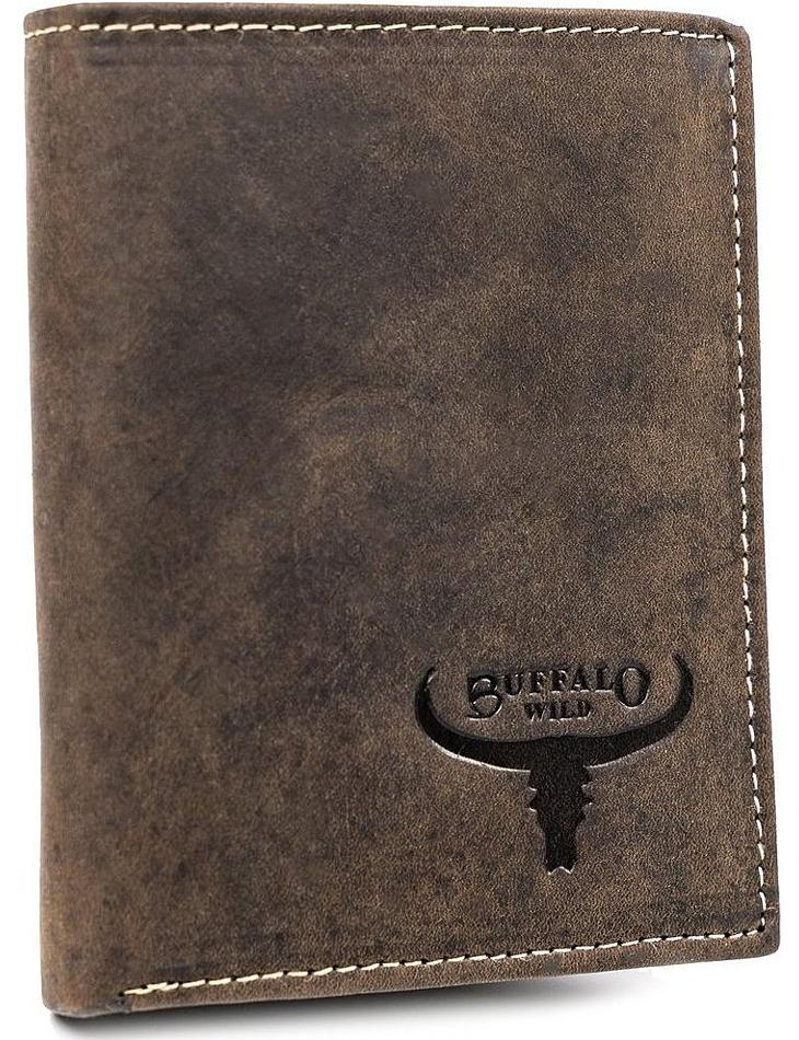 Buffalo wild hnedá pánska peňaženka z prírodnej kože vel. ONE SIZE