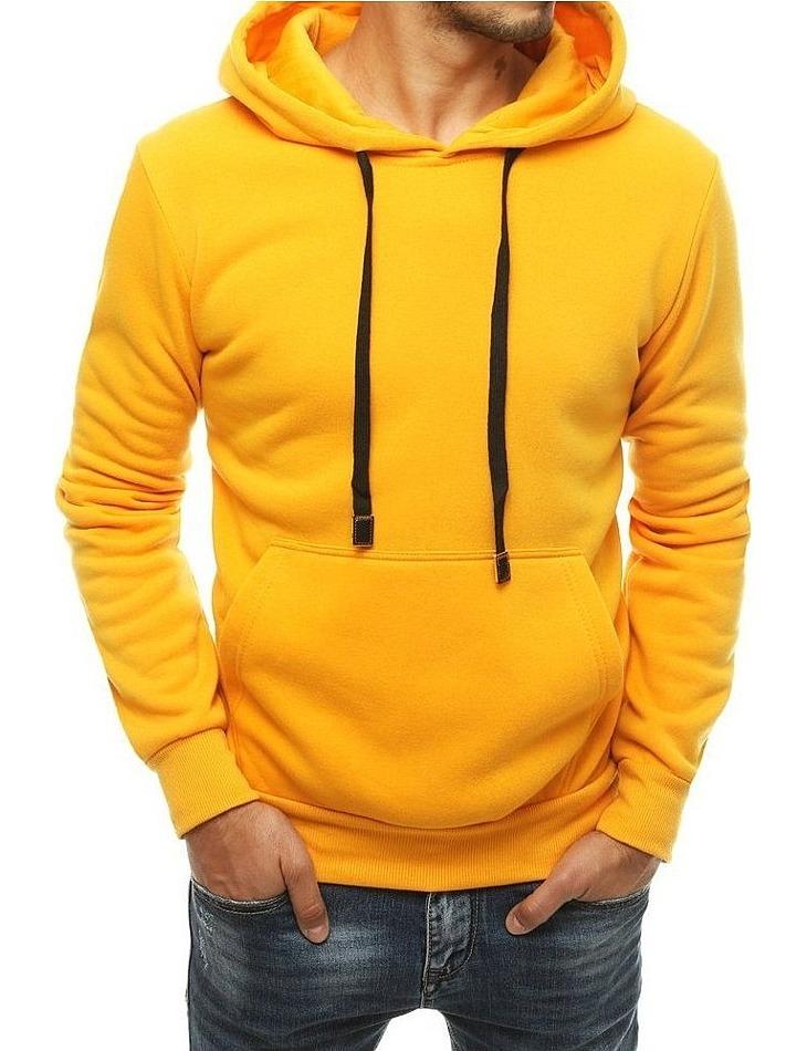 žltá pánska mikina s kapucňou vel. 2XL