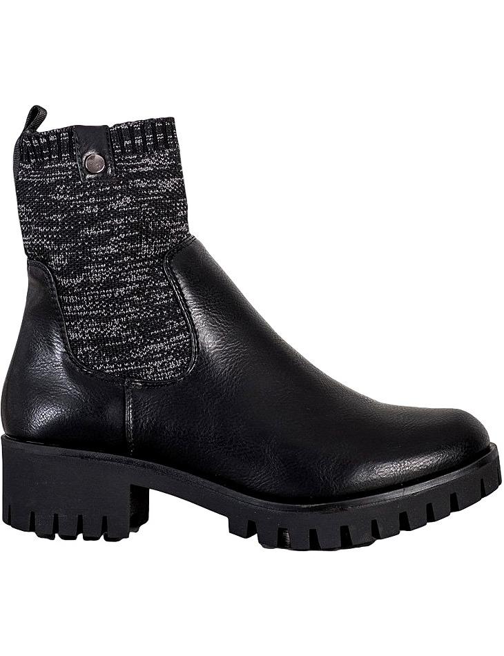 čierne členkové topánky na platforme vel. 36