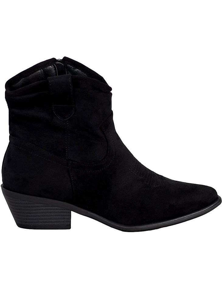 čierne semišové členkové topánky na podpätku vel. 39