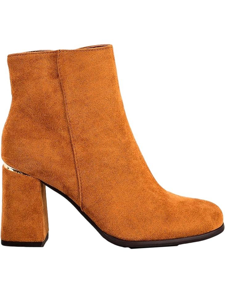 Hnedé dámske členkové topánky vel. 39