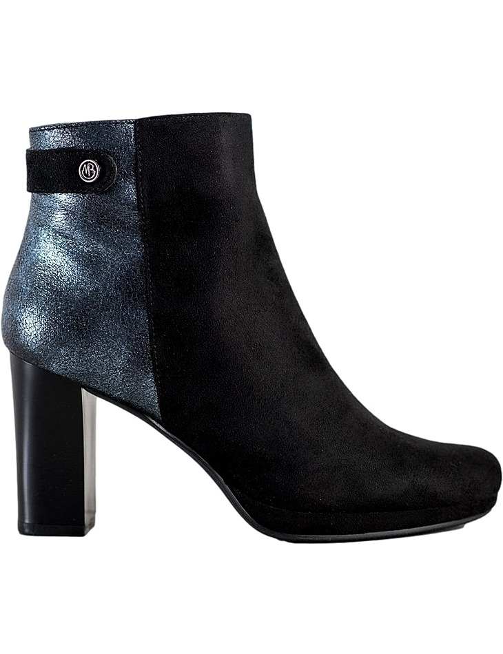 čierne členkové topánky na podpätku vel. 37