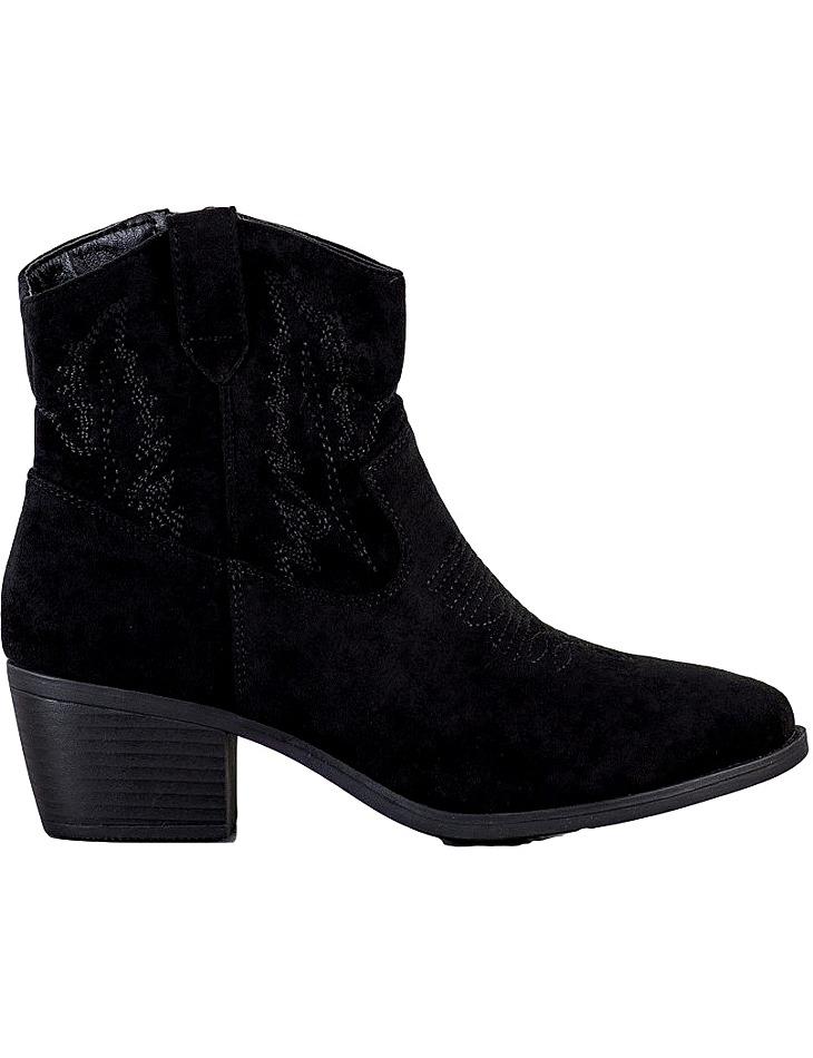 čierne členkové topánky na podpätku vel. 36