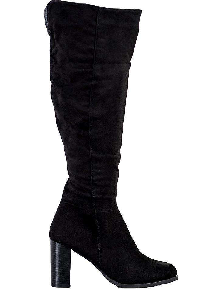 čierne klasické zateplené čižmy vel. 38