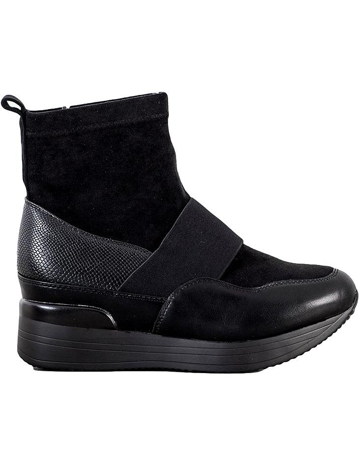 čierne členkové topánky na platforme vel. 39