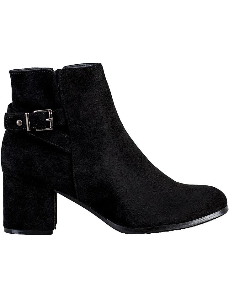 čierne členkové topánky na podpätku vel. 38