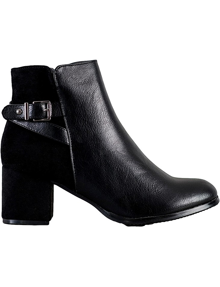 čierne členkové topánky na podpätku vel. 39