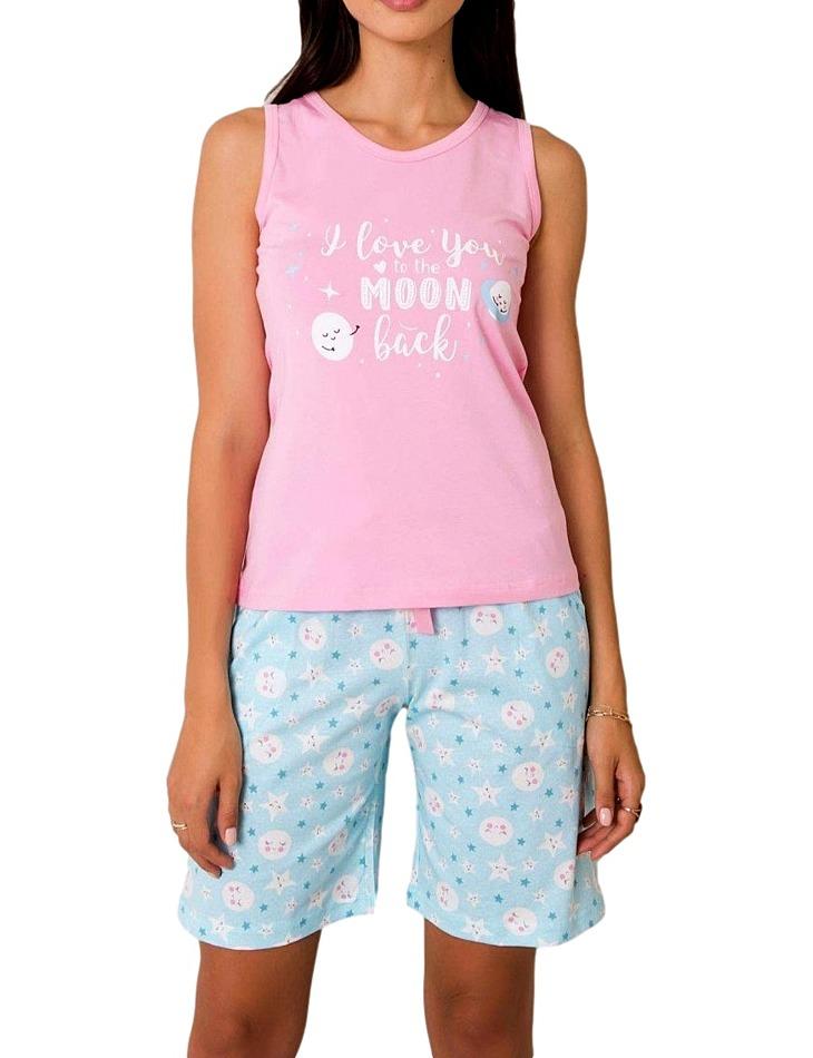 Dámske ružovo-modré pyžamo vel. S