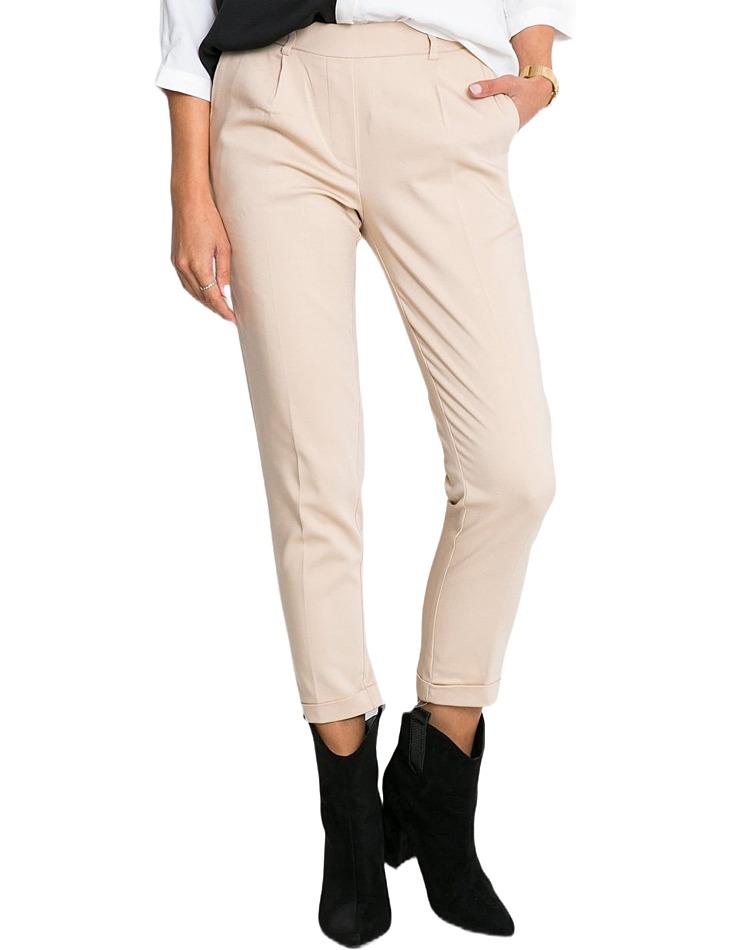 Béžové dámske nohavice vel. 38