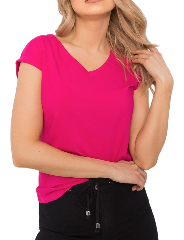 Ružové dámske tričko s krátkymi rukávmi vel. M