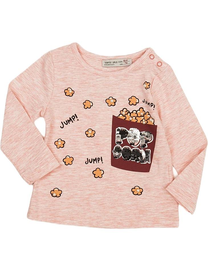 Ružové dievčenské tričko vel. 74