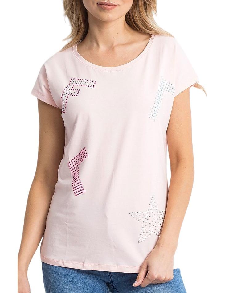 Dámske svetlo ružové tričko vel. ONE SIZE