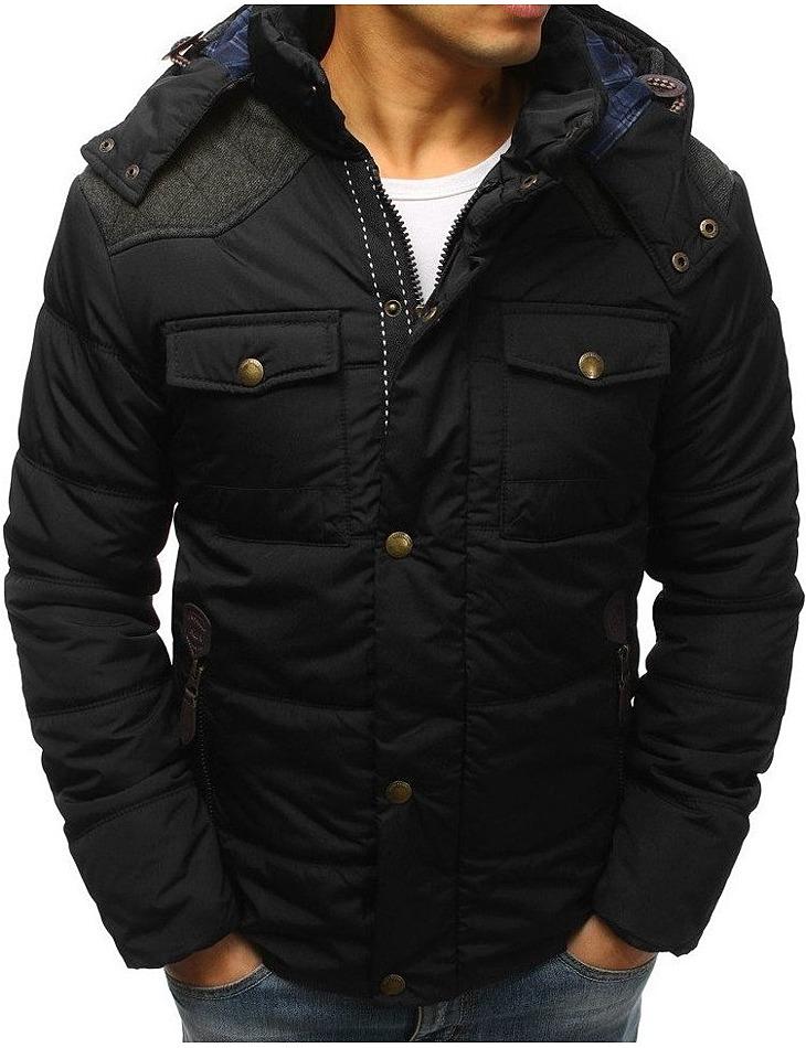 čierna pánska zimná bunda vel. XL