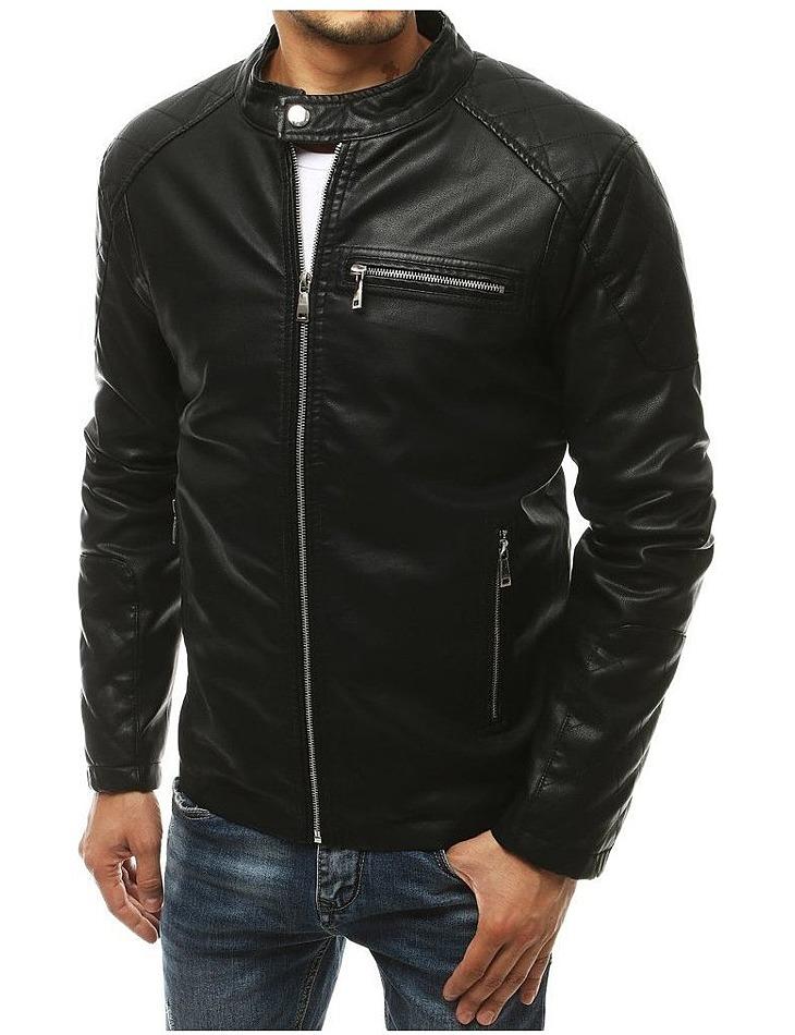 čierna koženková bunda vel. XL