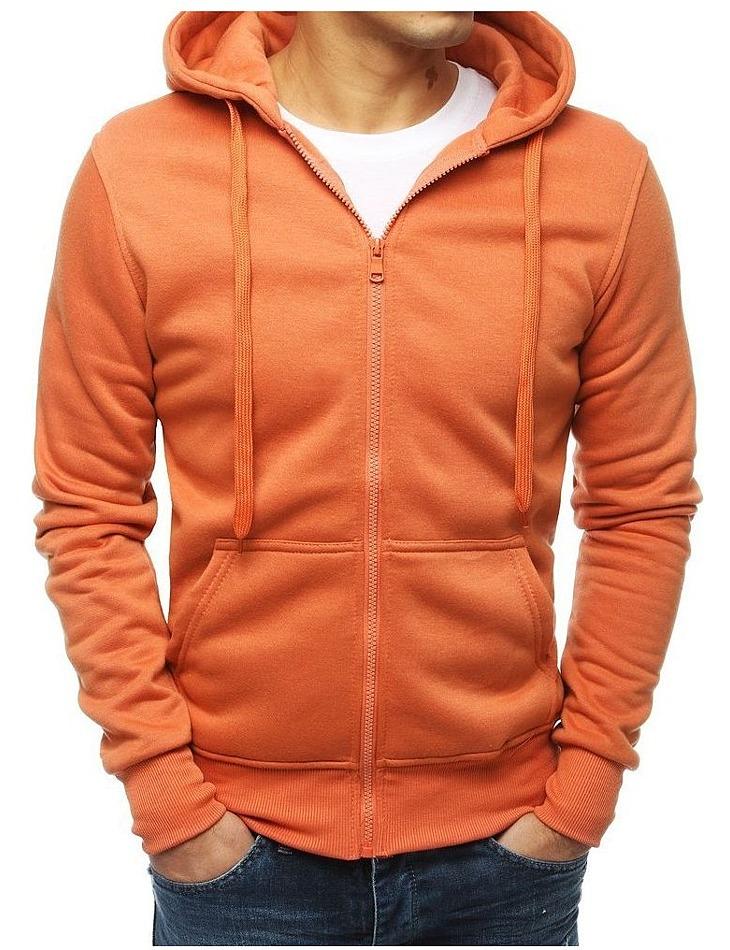 Oranžová pánska mikina vel. L