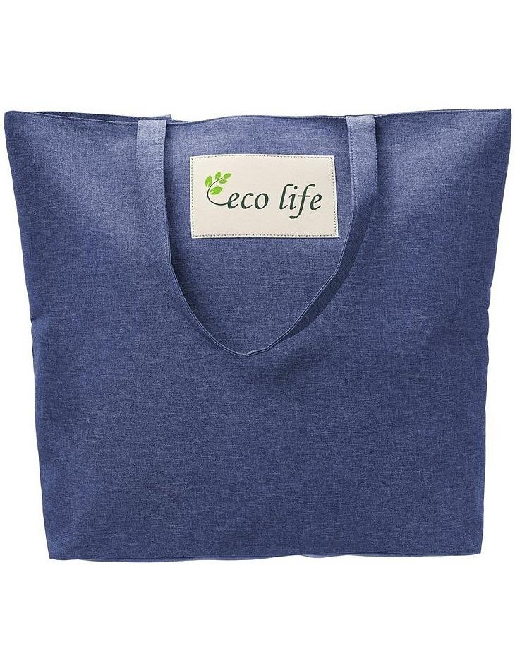 Modrá priestranná nákupná taška vel. ONE SIZE