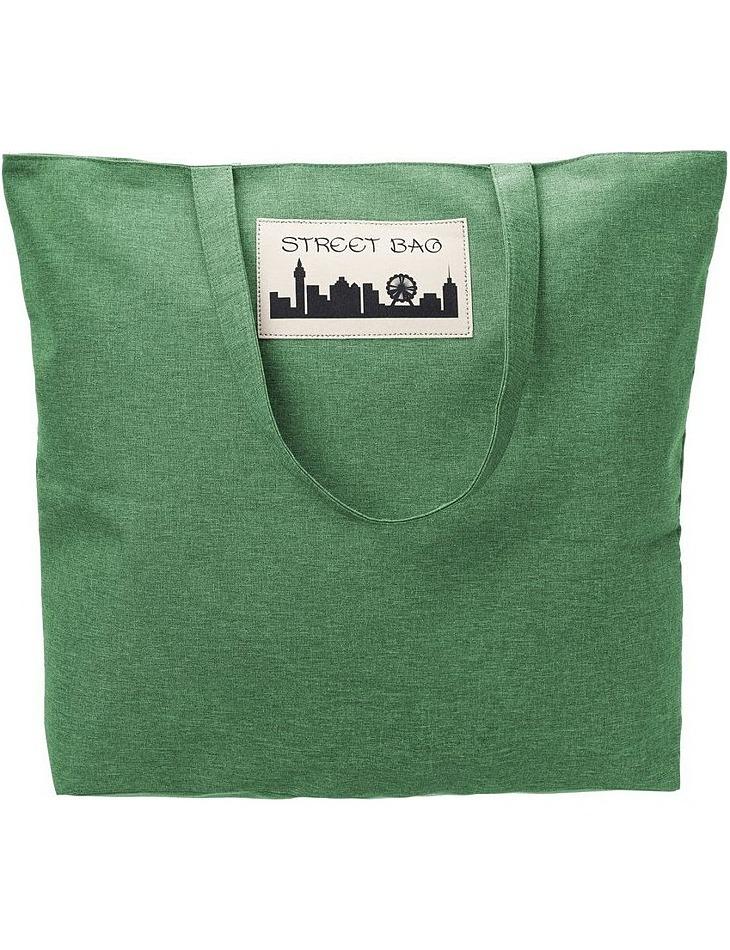 Zelená priestranná nákupná taška vel. ONE SIZE