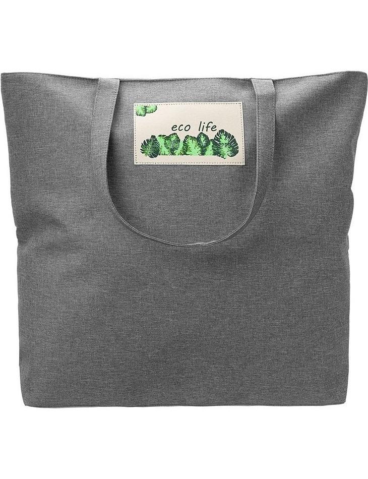 Priestranná šedá nákupná taška vel. ONE SIZE