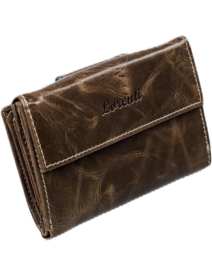 Lorenti® hnedá dámska kožená peňaženka rd-03-bal vel. ONE SIZE