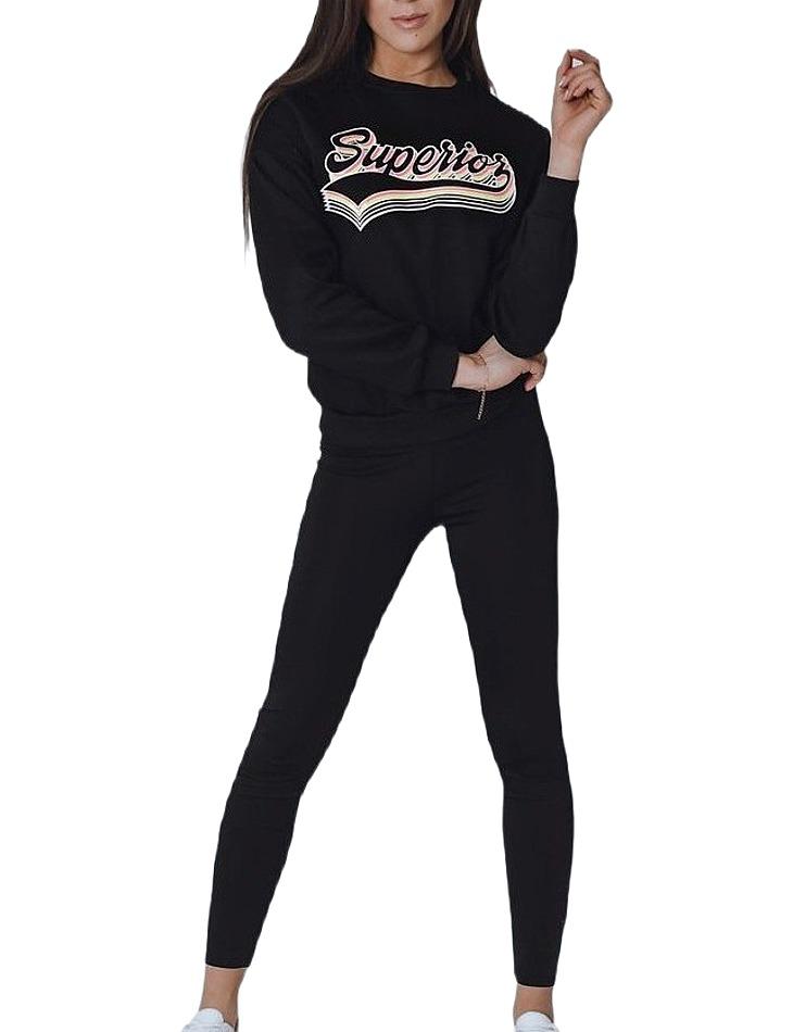 čierna dámska mikina s nápisom vel. XL