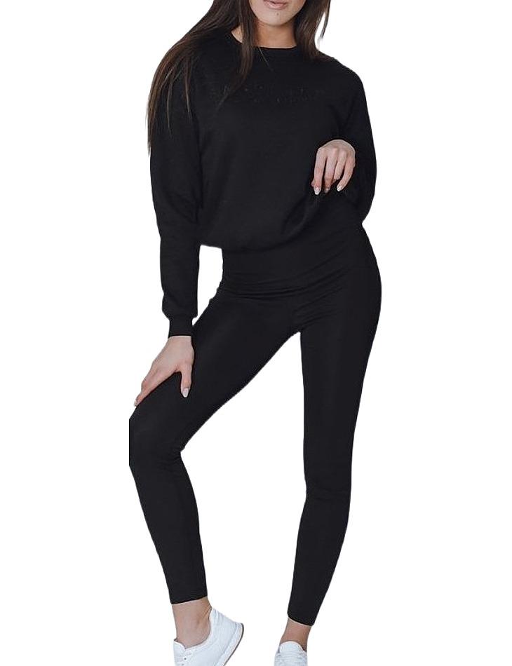 čierna dámska mikina s výšivkou vel. XL