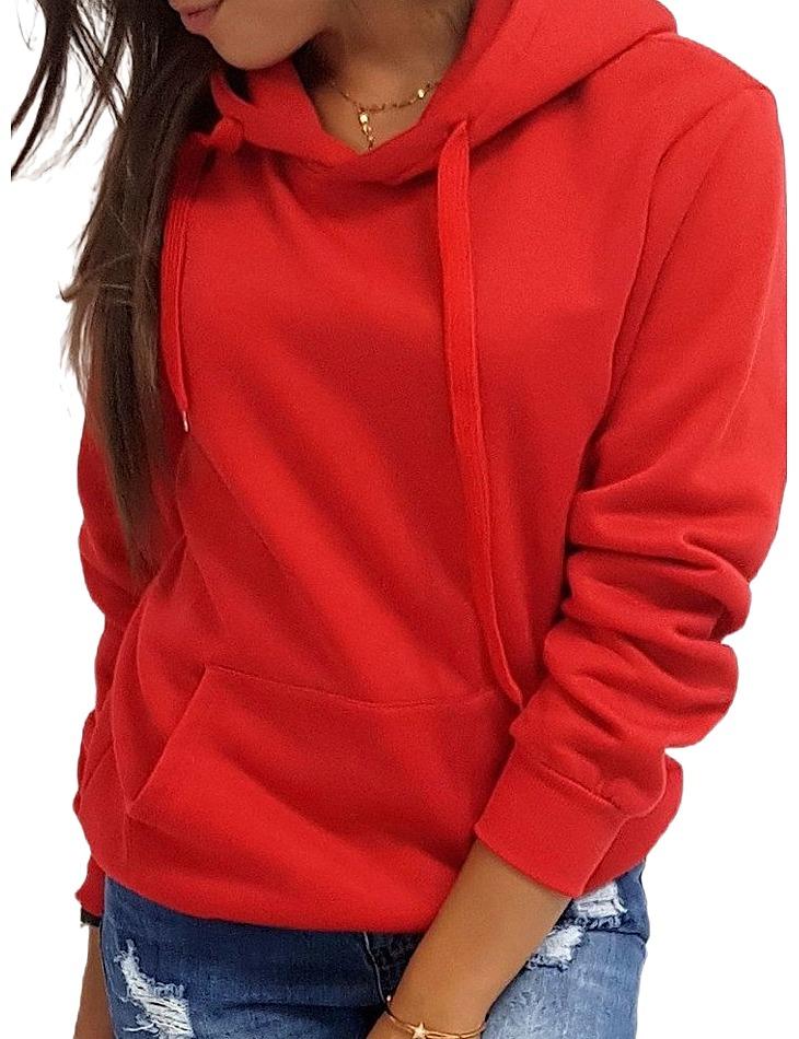 červená dámska basic mikina vel. XL