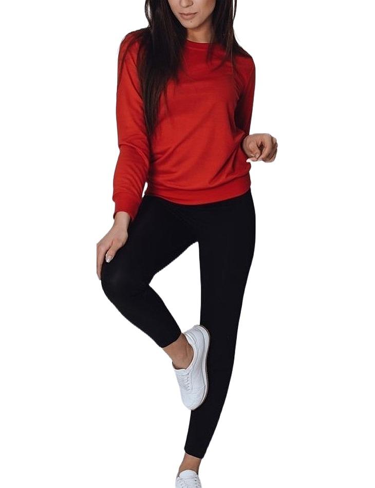 červená dámska mikina bez kapucne vel. L/XL