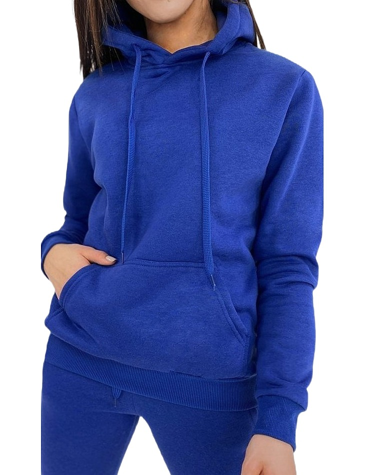 Dámska modrá mikina s kapucňou vel. L