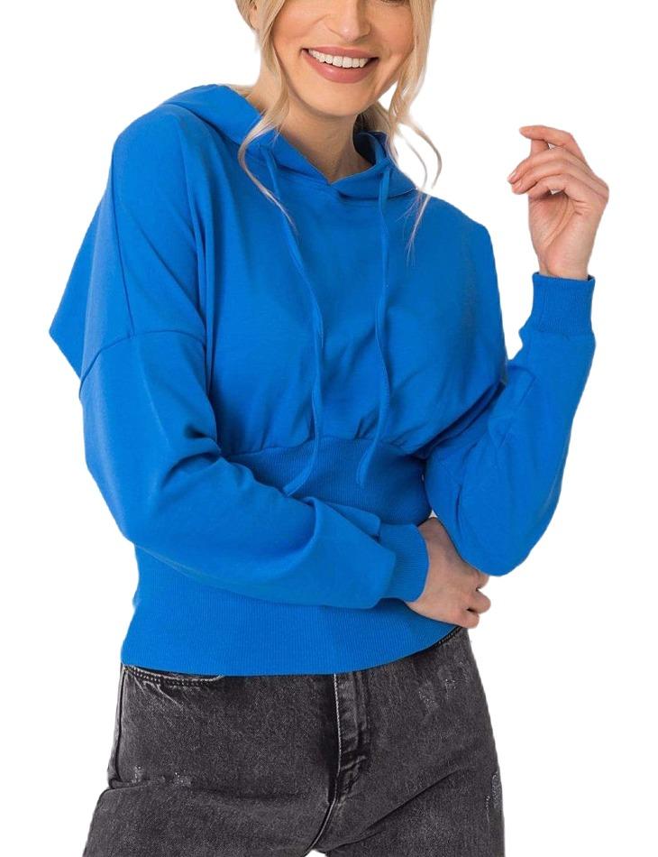 Modrá dámska mikina kapucňou vel. L