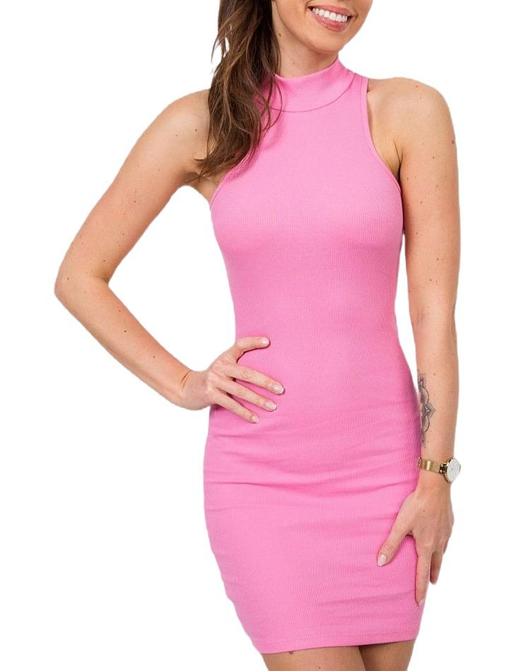 Dámske ružové šaty vel. L
