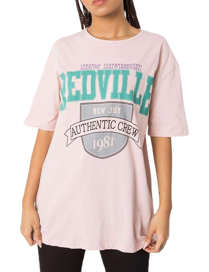 Svetlo ružové dámske tričko s nápisom vel. M