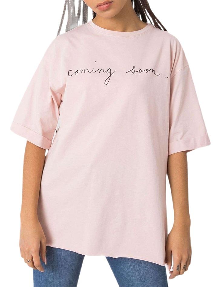 Ružové tričko coming soon vel. M