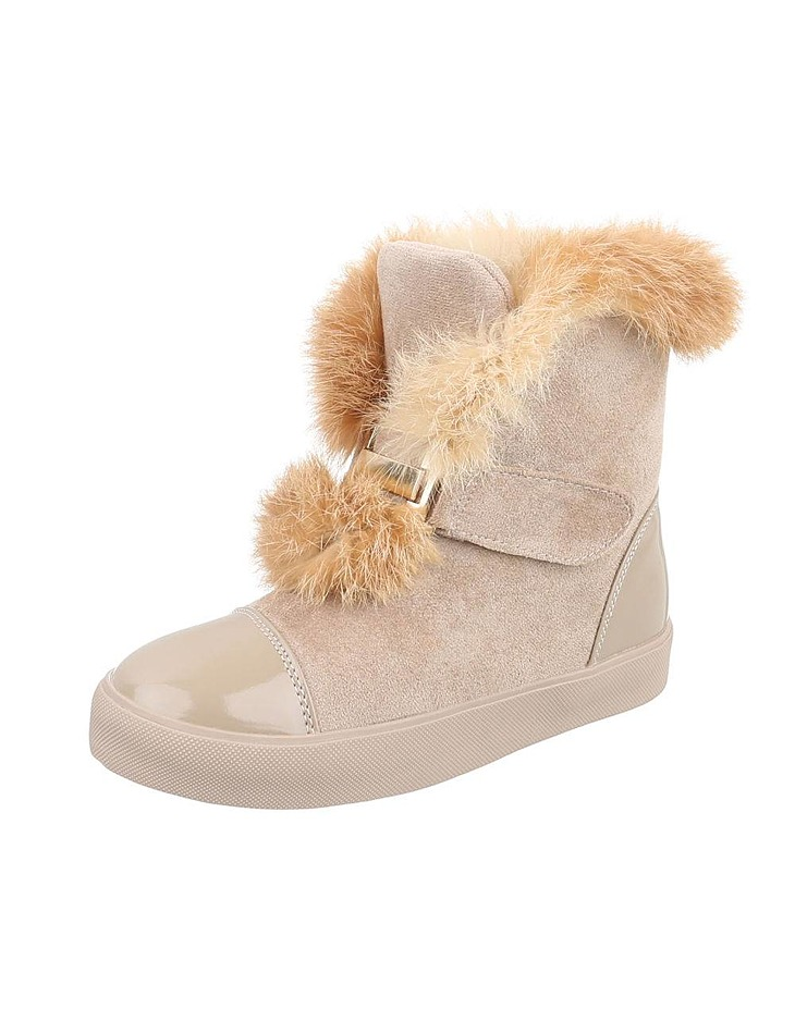 befb6078086c Dámske vysoké zimné topánky s kožušinou