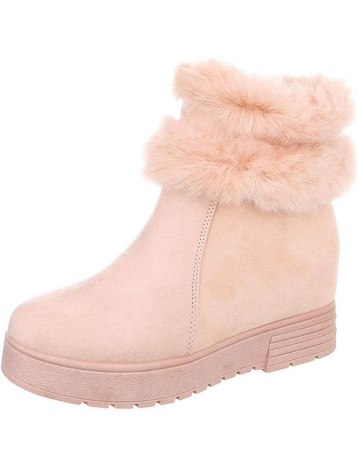 f8be6913be Dámske vysoké zimné topánky s kožušinou