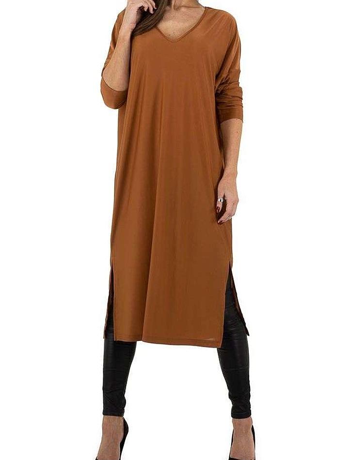Dámske hnedé šaty vel. M/L