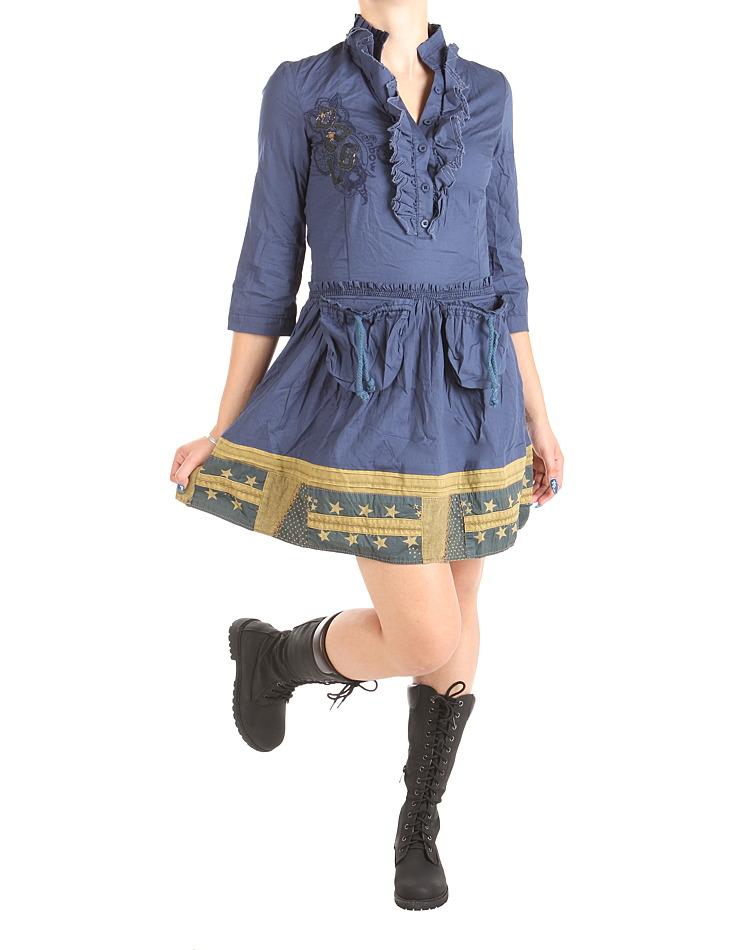622b3efdb Dámske modré šaty Desigual | Outlet Expert