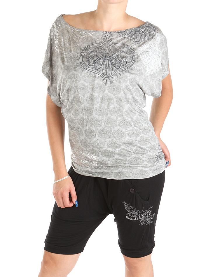 5b2ec2d9ad7f Dámske sivé tričko Desigual