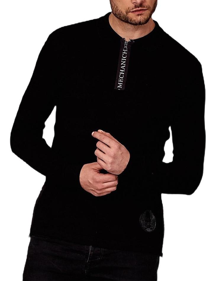 čierne tričko s golierom vel. 2XL