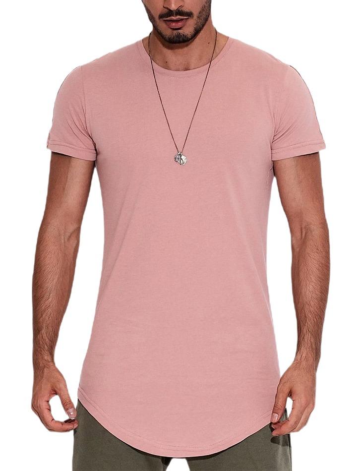Ružové pánske tričko s krátkym rukávom vel. M