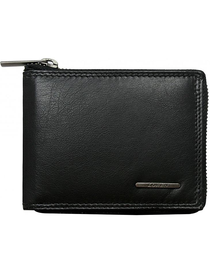 čierna pánska peňaženka na zips vel. ONE SIZE