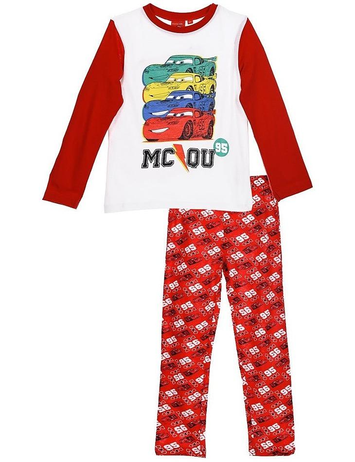 Cars červeno-biele chlapčenské pyžamo vel. 116
