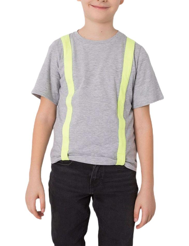 Svetlo sivé chlapčenské tričko vel. 110/116